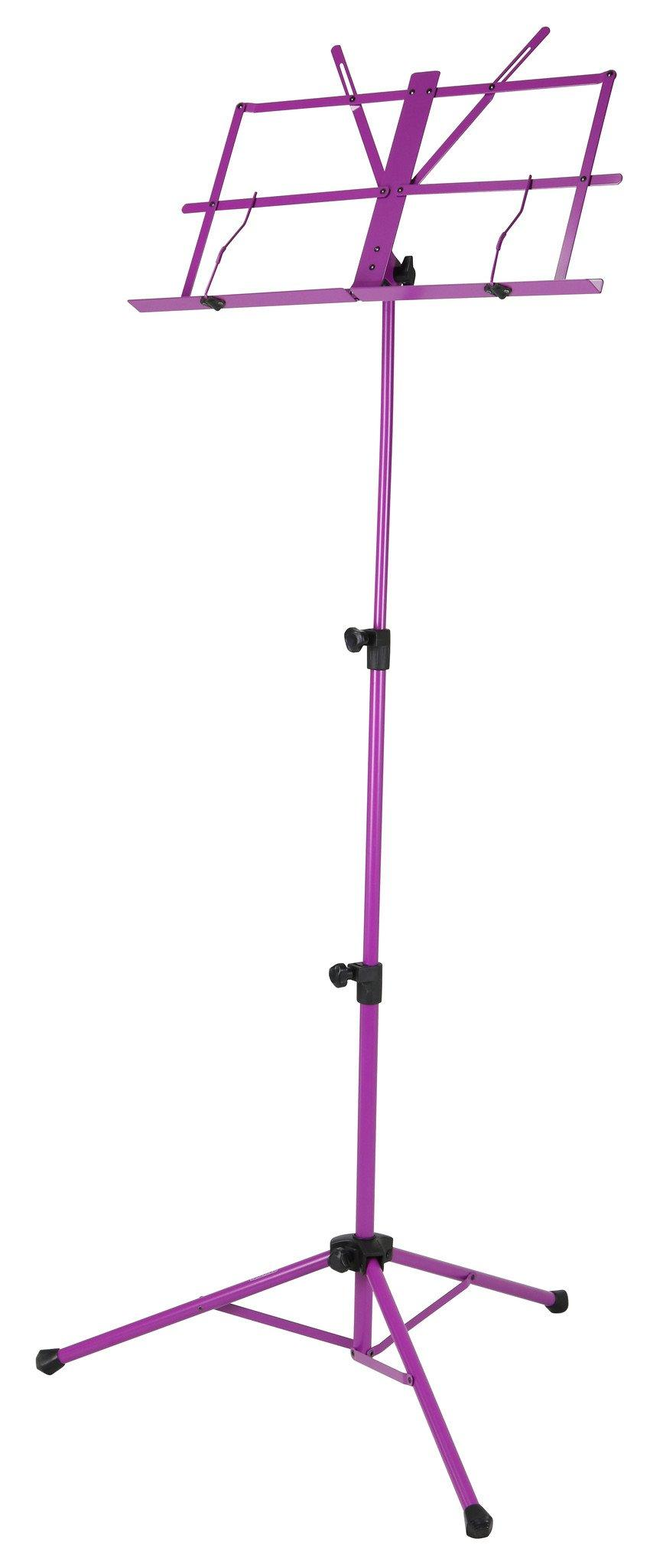 Deluxe 3-Part Folding Music Stand W/Bag - Purple