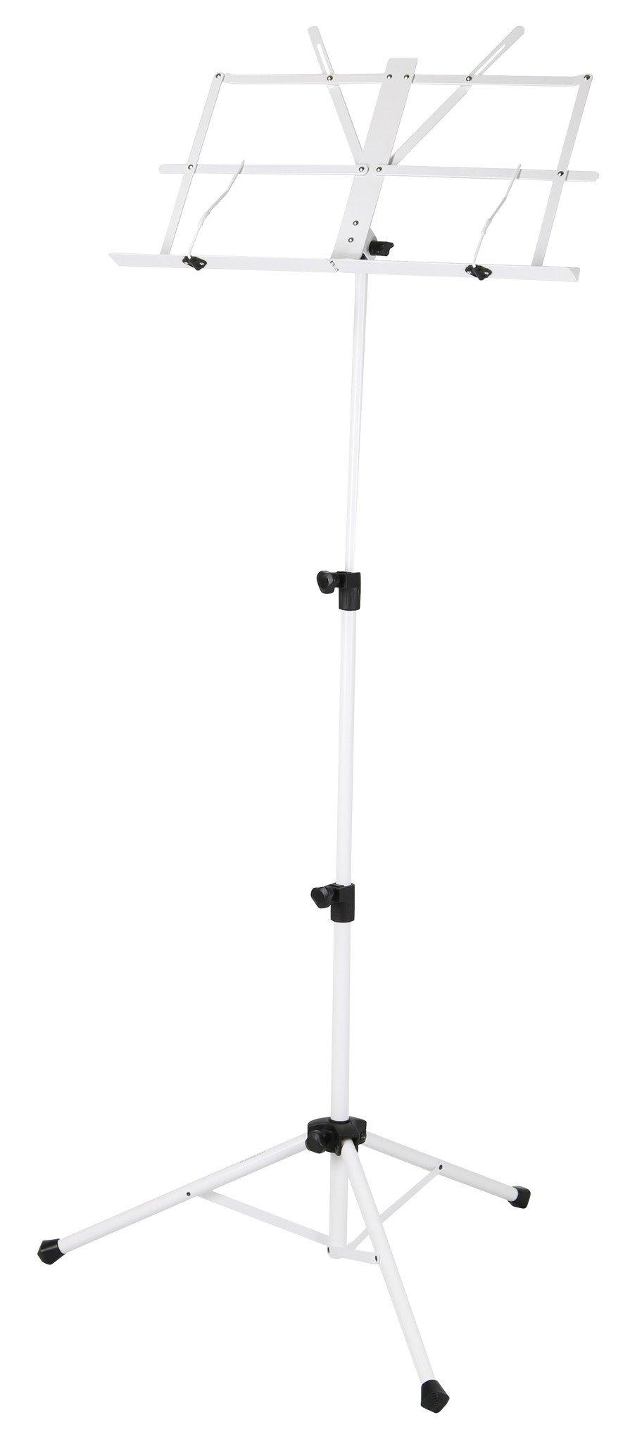 Deluxe 3-Part Folding Music Stand W/Bag - White