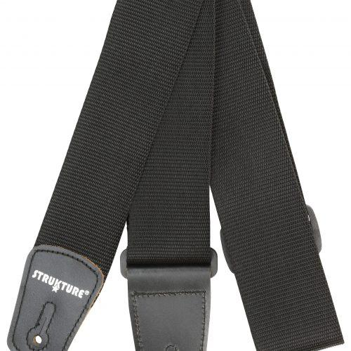 """Strukture 2"""" Poly Guitar Strap With Leather Tabs"""