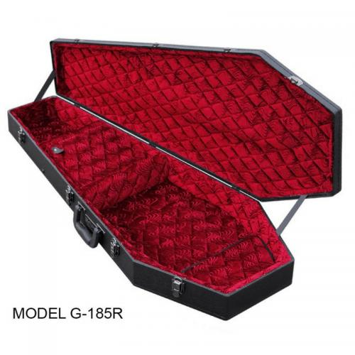 Coffin Guitar Case / Red Velvet