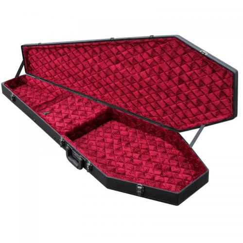 Coffin Bass Case / Red Velvet